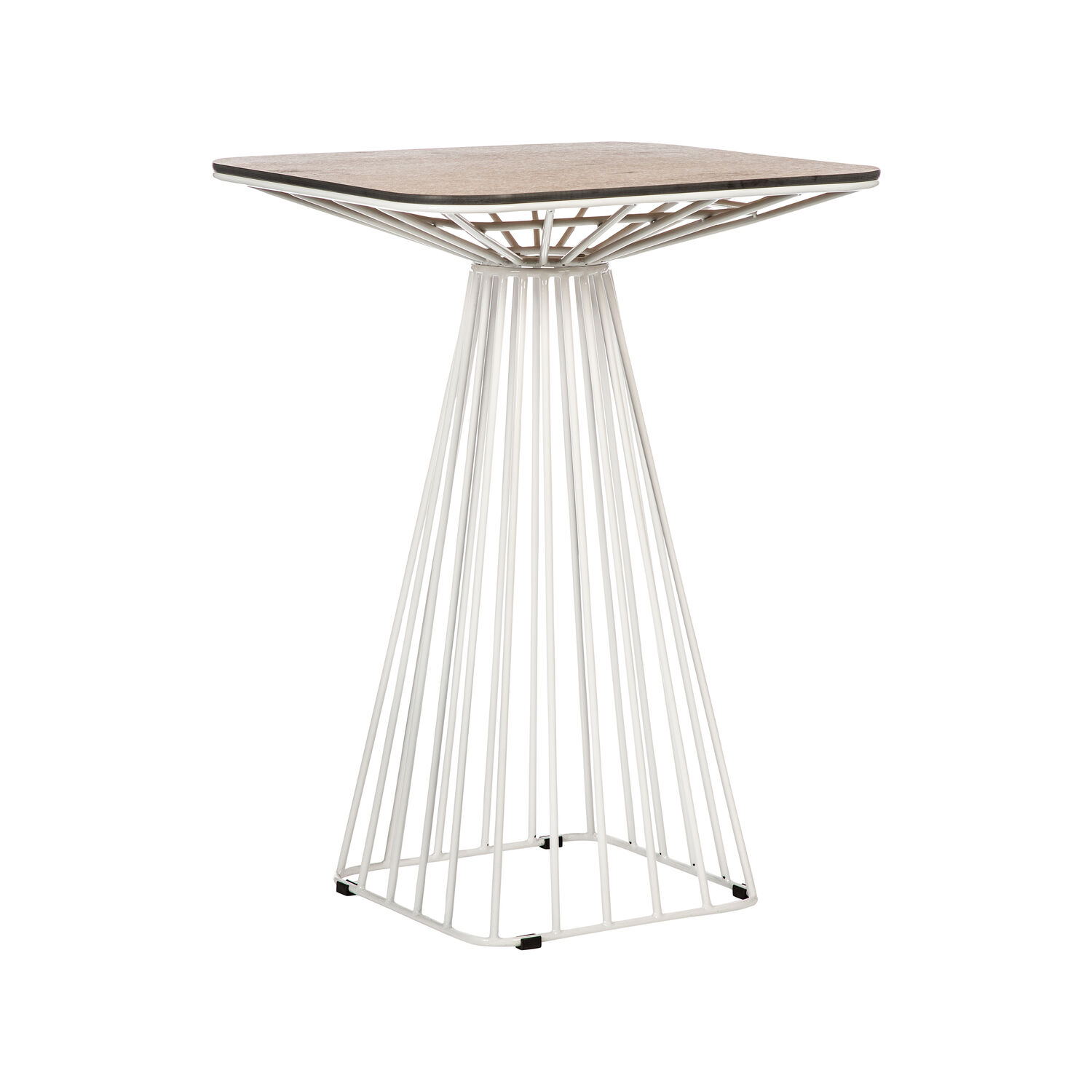 Wire Table Bar White (2)