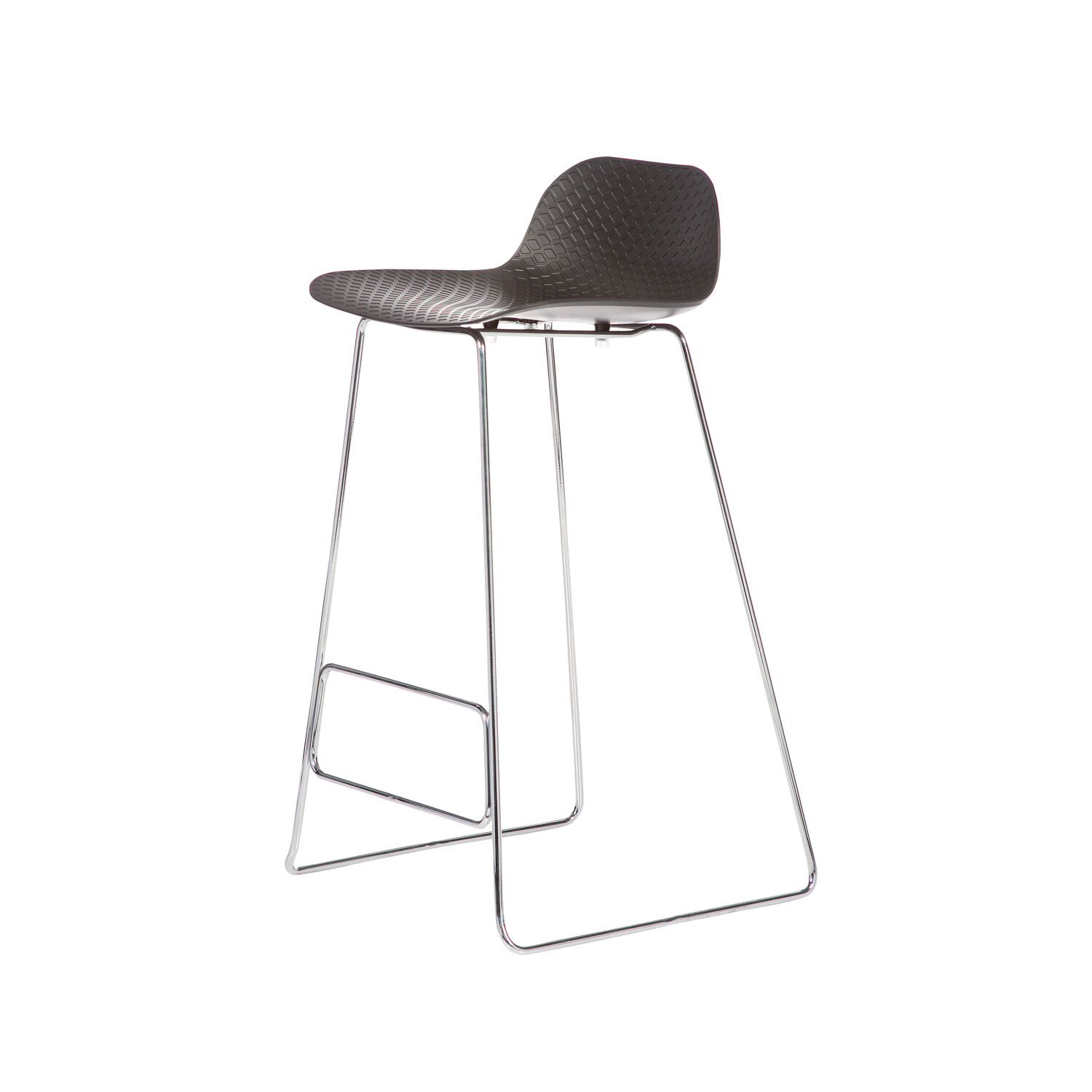 Arc Stool Metal Chrome Base 2